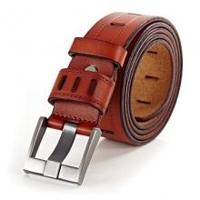 Cintura del cuoio genuino con pelle di vitello per gli uomini
