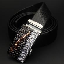 Cintura del cuoio genuino con pelle di vitello per gli uomini, Tipo di fibbia automatica