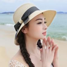Cappello da sole alla moda per Donne [ Cappello di paglia in papiro naturale ] Cappello a tesa larga