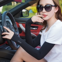 Ice Sleeve Summer Long Section Gloves Sun Protection and Lace Design for Women Lady, Drive Sleeve