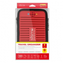 sisma ® Universel Elektronik Taske Rejsearrangør til Elektronik og Tilbehør -Rød SCB16128S-WB-R