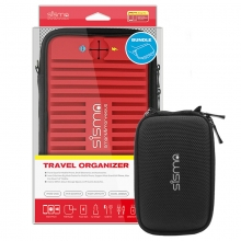 sisma ® Elektronica en Accessoires Reistas 2 in 1 Universele Organisator -Rood Bundelen met Kleine Tas SCB16128S-R